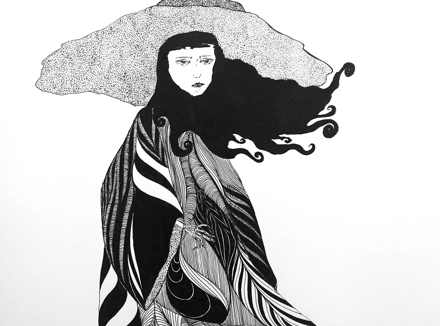 Detail - Night Witch Waits for Dusk