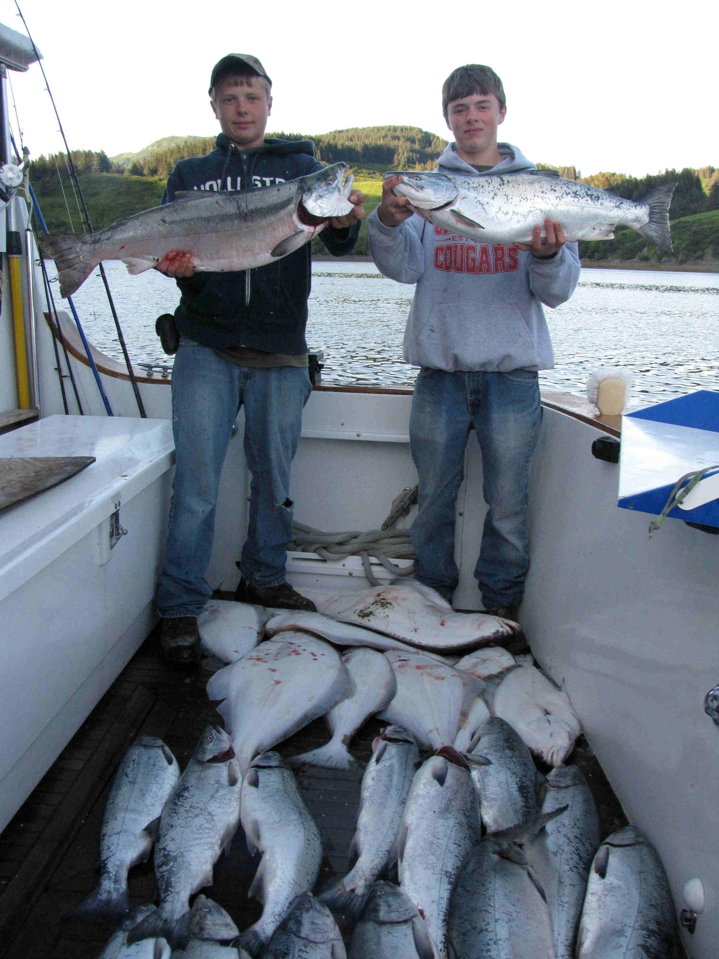 silver salmon & halibut