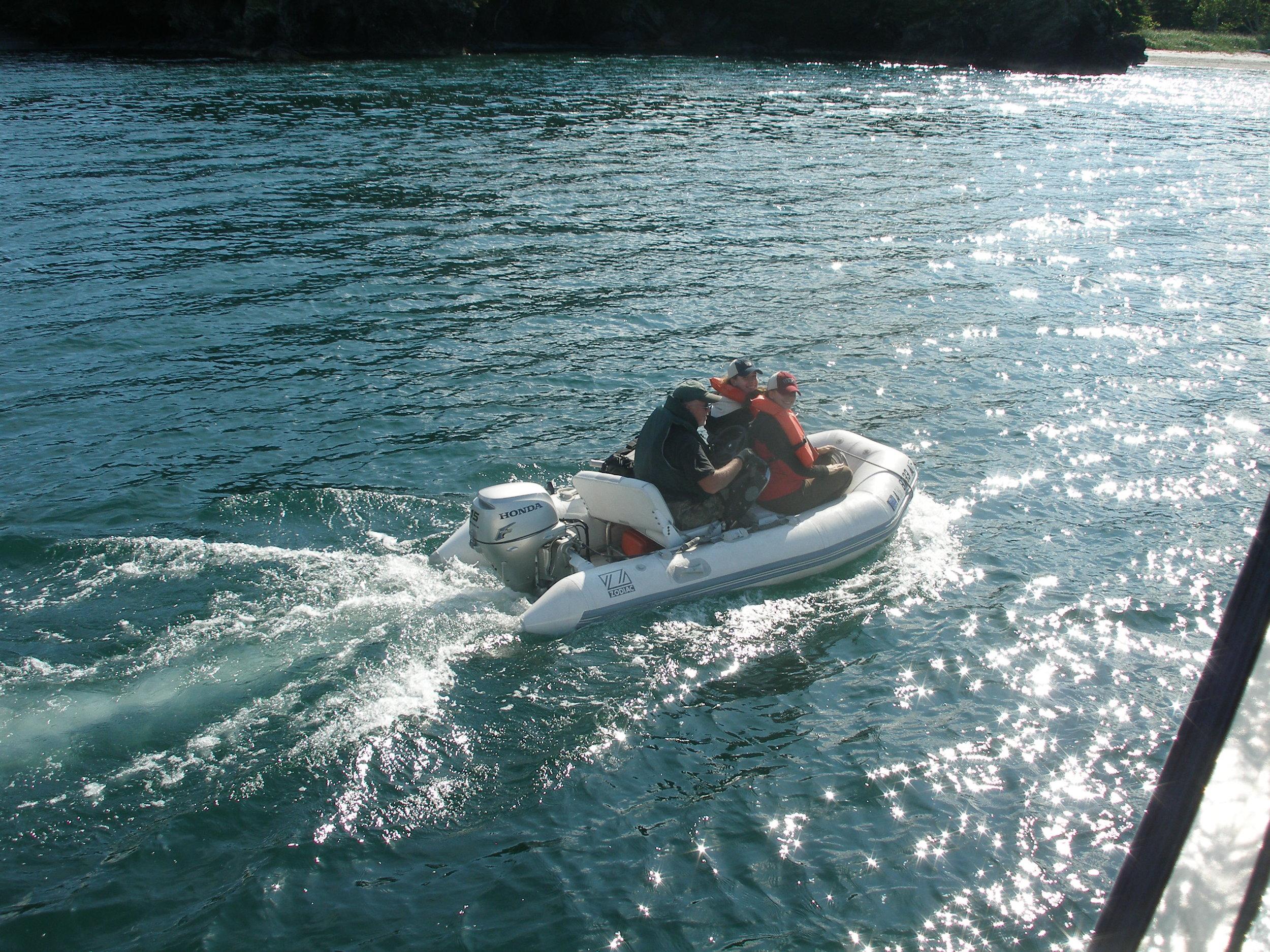 heading ashore to Uganik Island