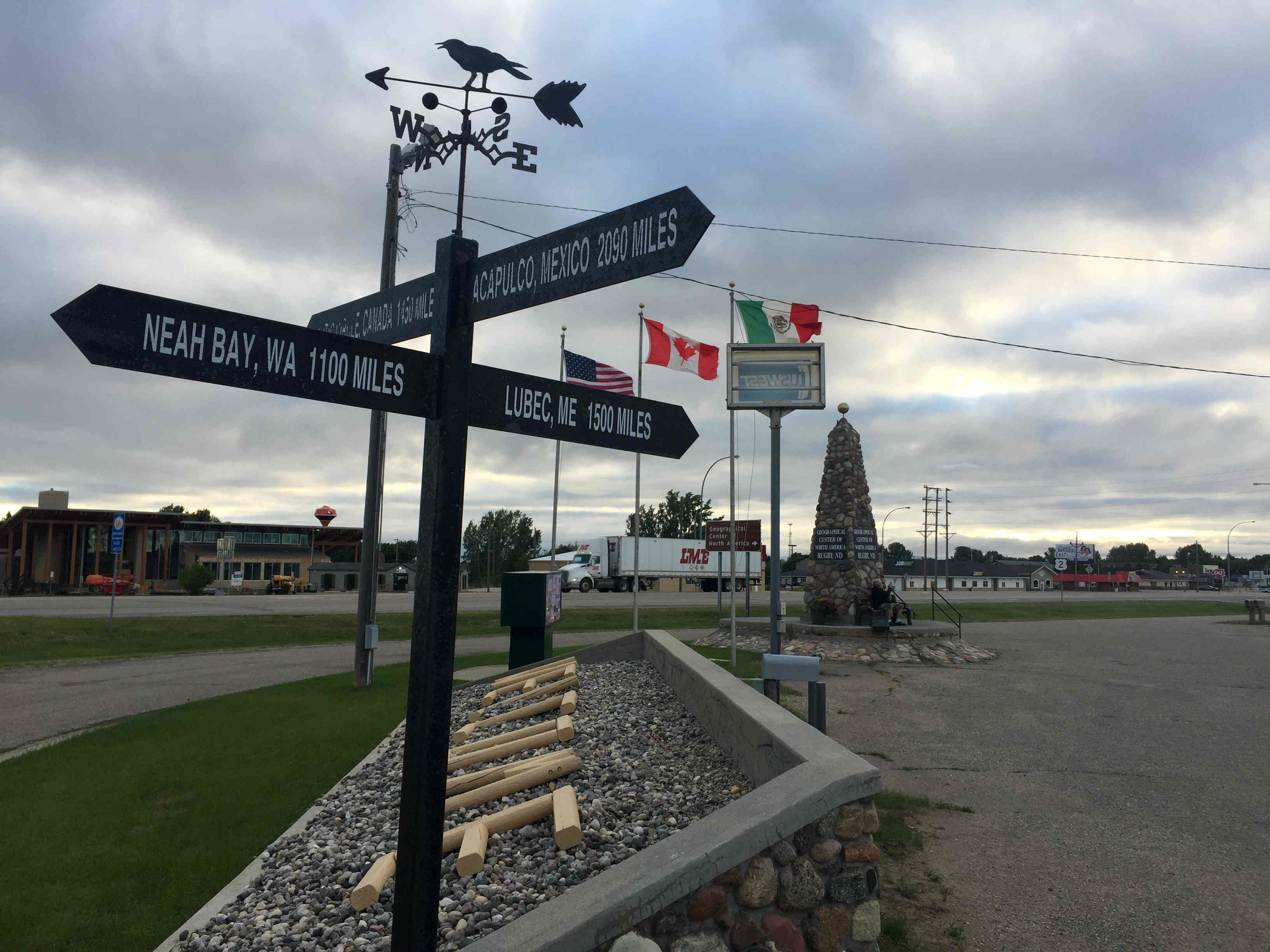 geographical center of North America--Rugby, North Dakota