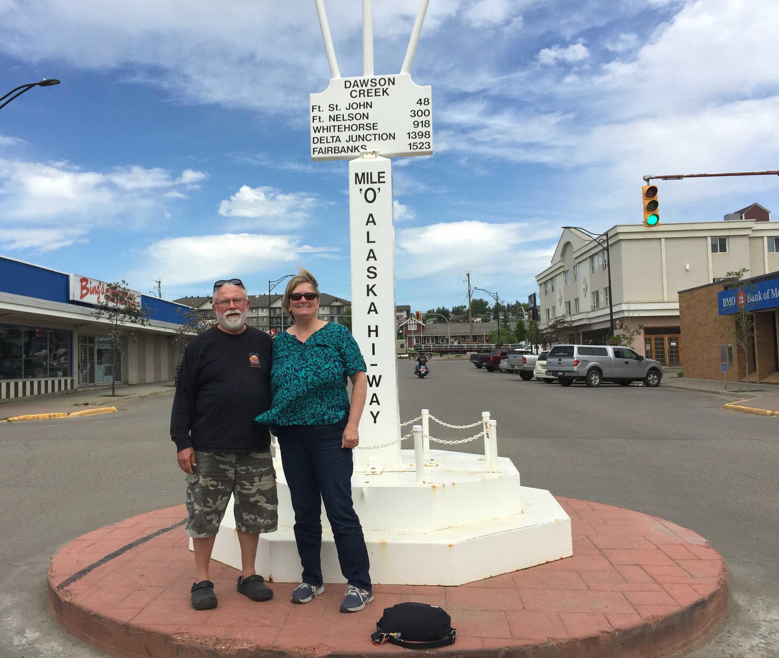 milepost 0 Alaska Highway