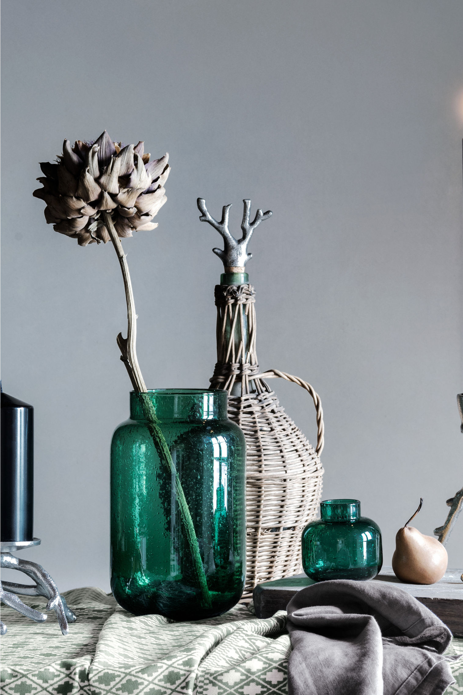 Green Glass Vase