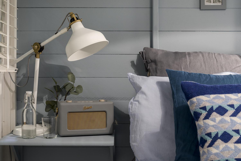 Bespoke bedside shelves painted in Driftwood Blues