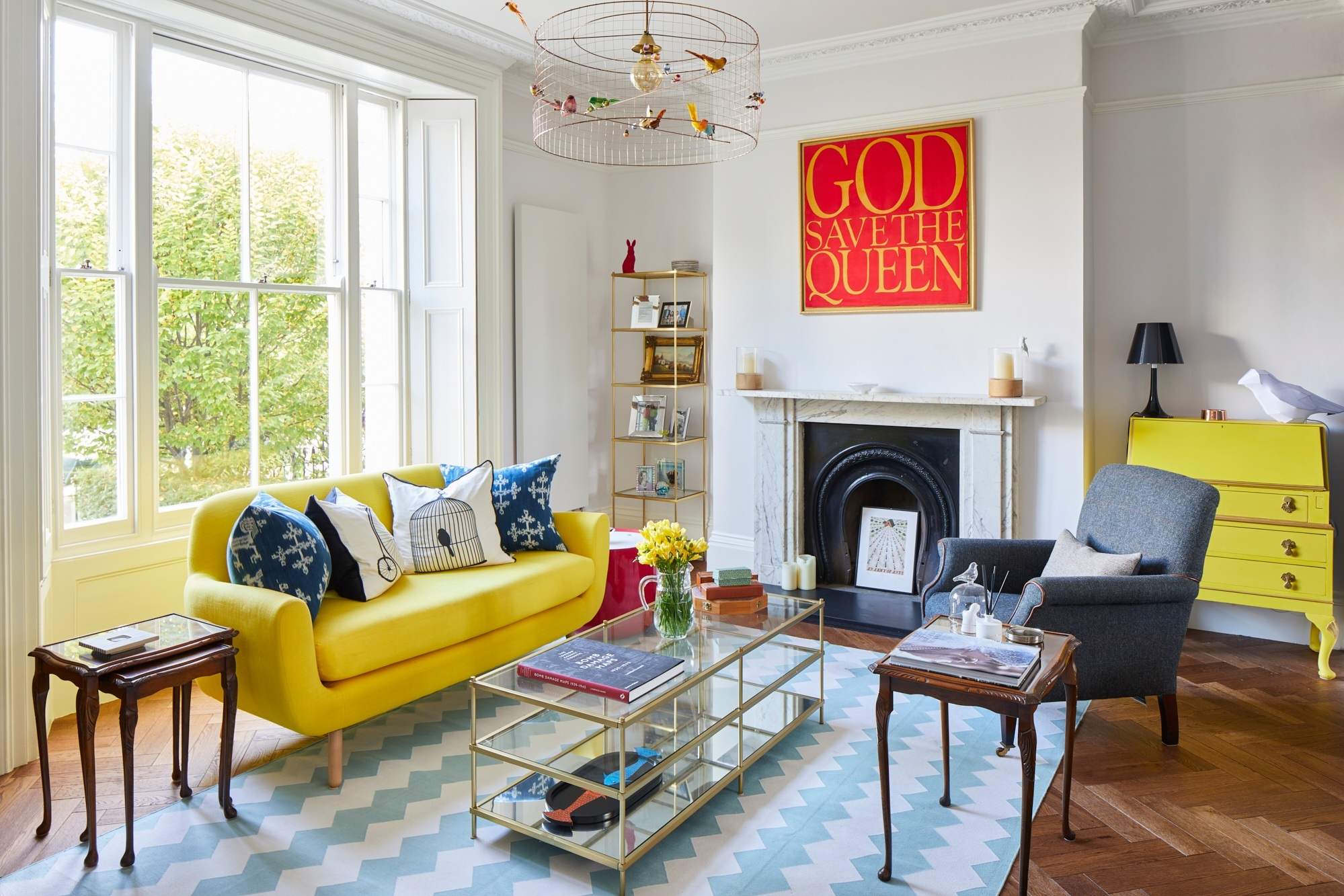 Eclectic interior design in London town house