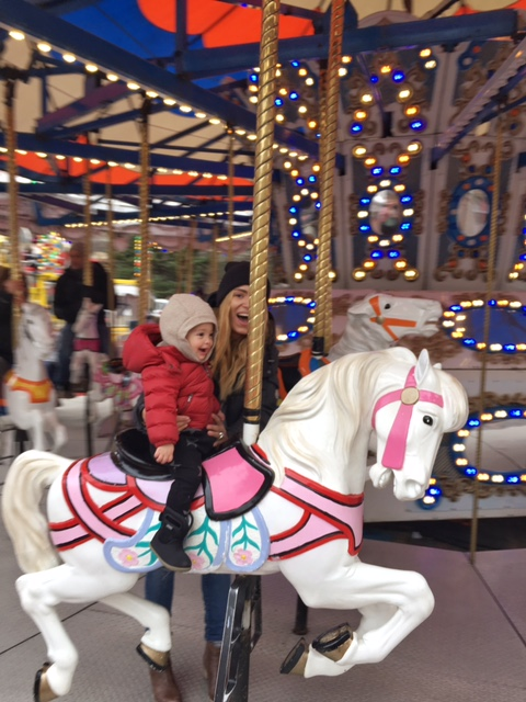 London's first time on a carousel.