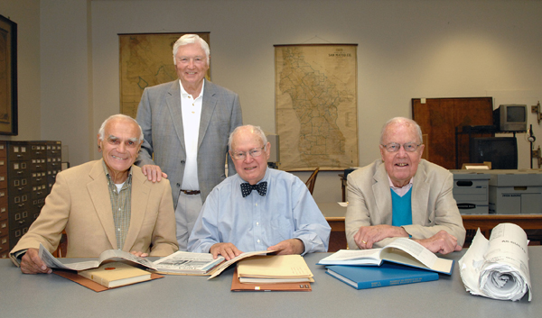 California venture capital legends: Draper and Johnson with Reid Dennis and Bill Bowes in 2013.
