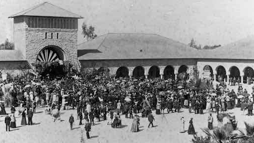 Opening Day, Stanford University, 1891.