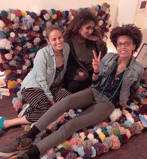 Latiana with one performer, Aya Jack (seated left)and one attendee, Paige Goodings (seated right), from our  April fundraiser !