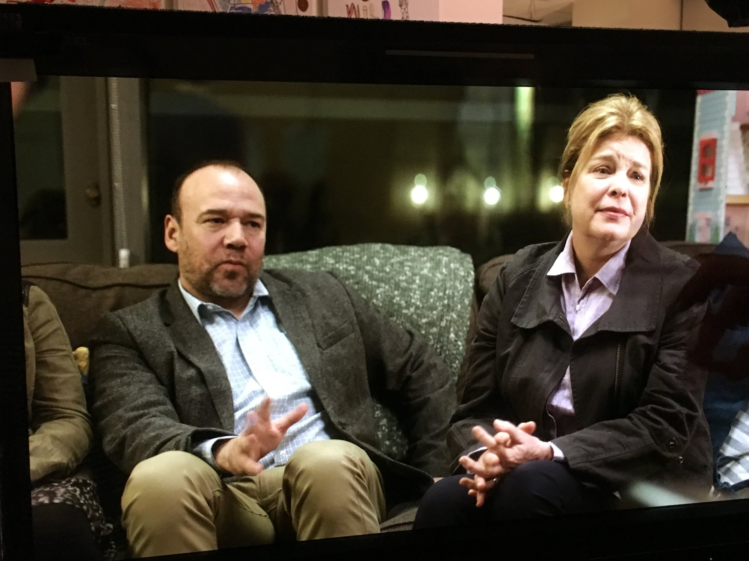 DANNY BURSTEIN and CATHERINE CURTIN as Lucy's parents, Dan and Ellen in  Lucy in the Sky