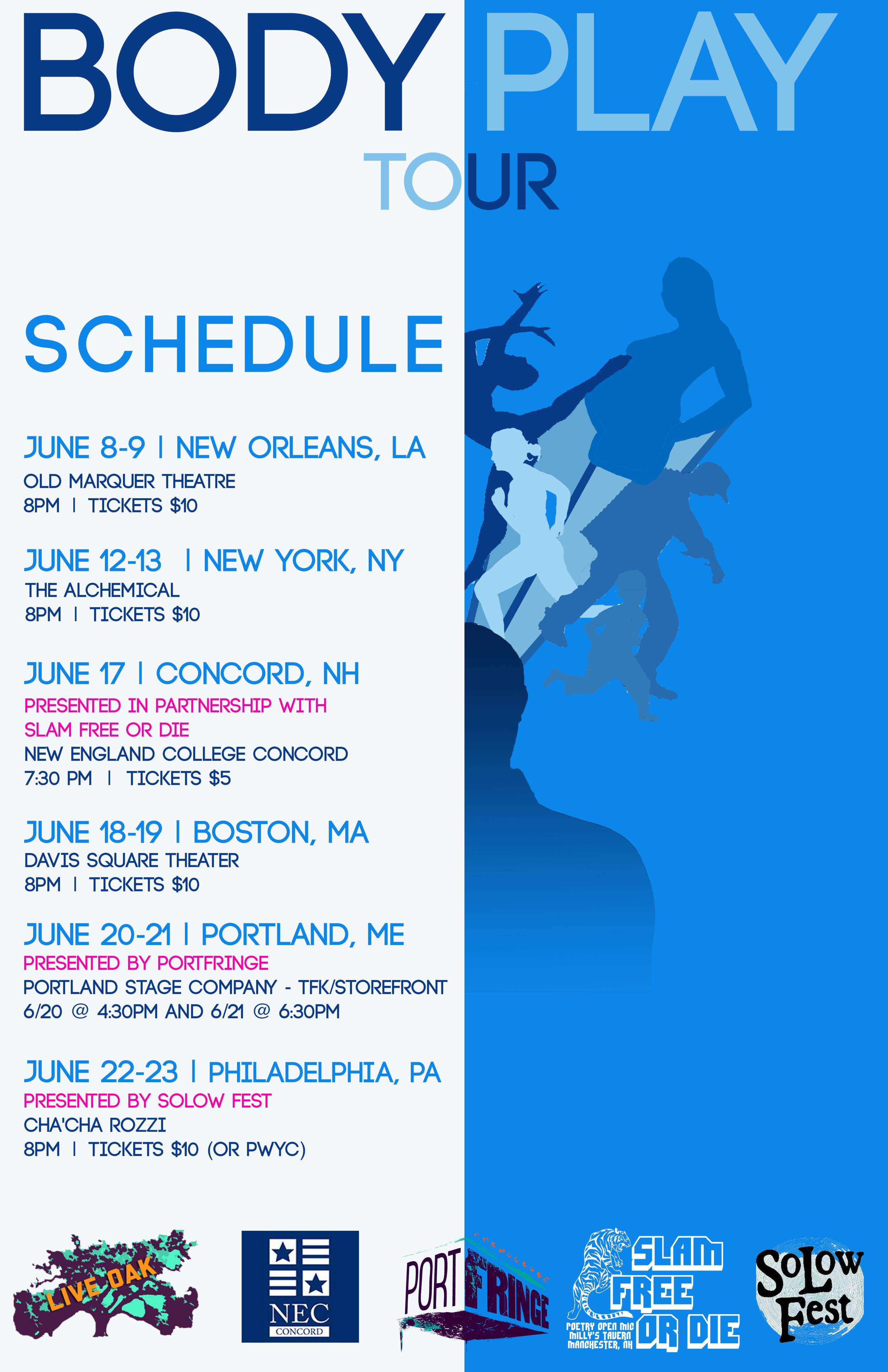 BODY Play Tour Poster, 2015