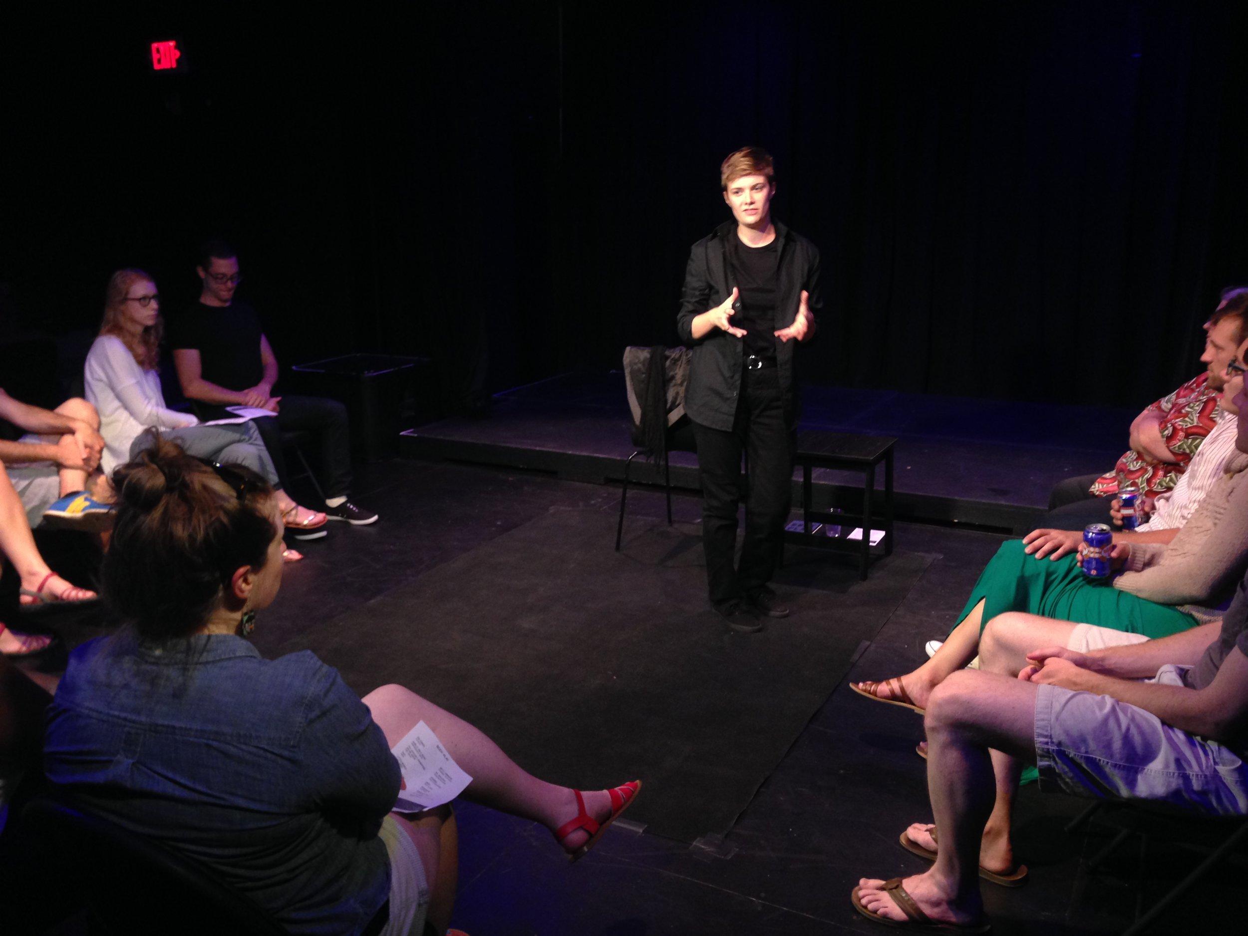 Kaycee Filson performs BODY Play at the Davis Square Theatre, Boston, MA, 2015