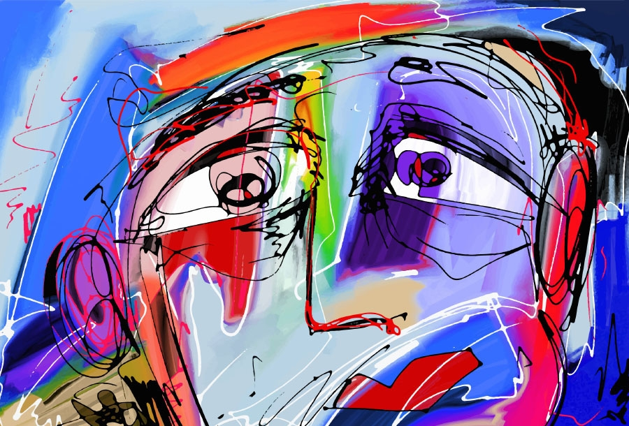 abstract digital painting of human face  © Kara-Kotsya / Adobe Stock