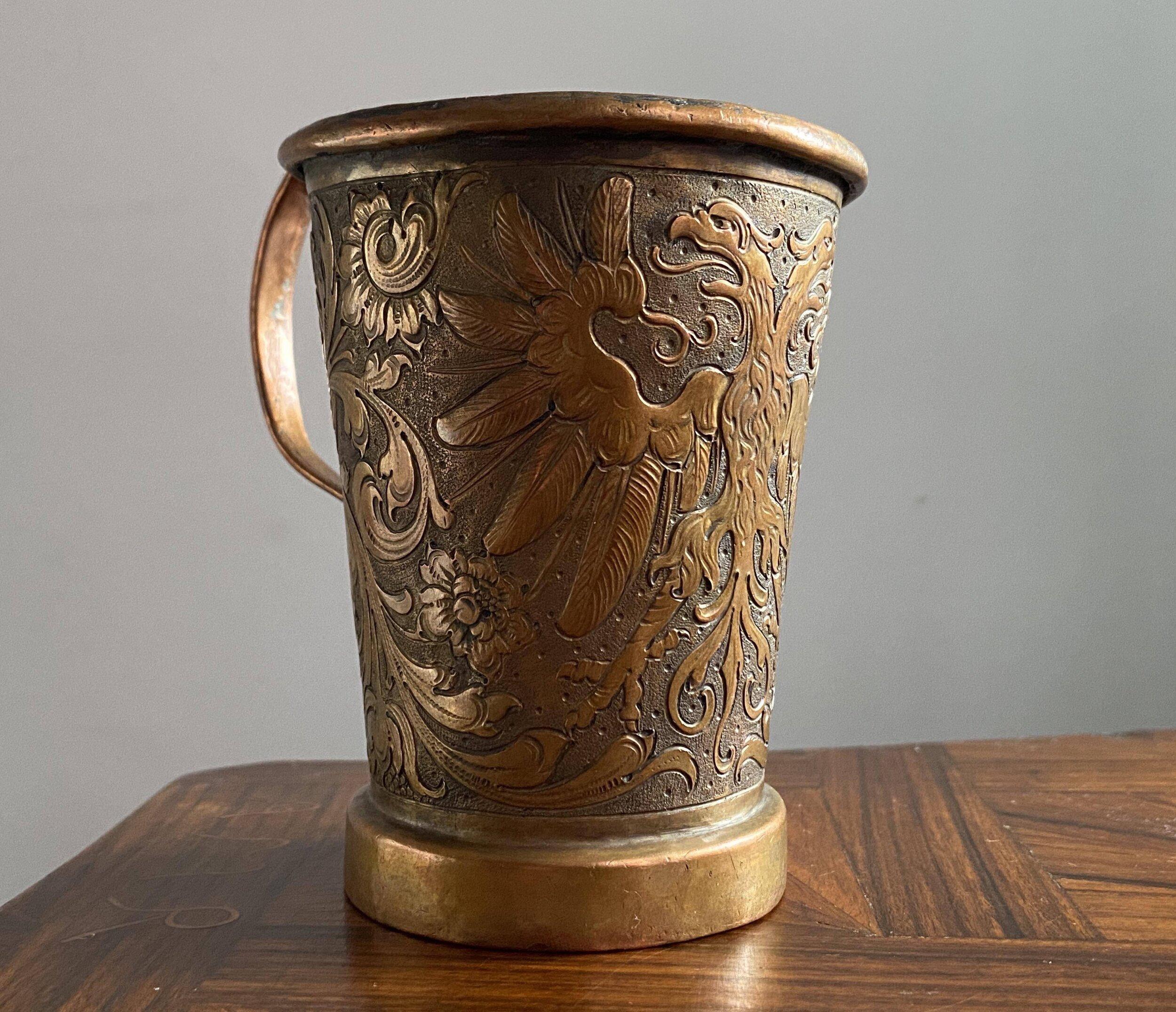 Bohemia Copper Beer Mug second viewe