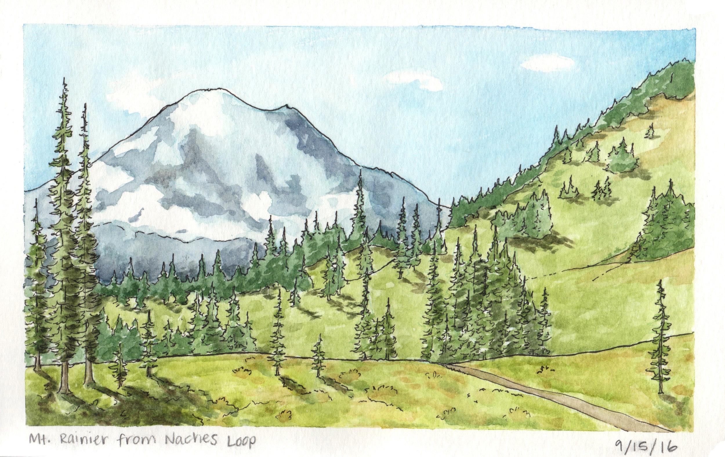 Mount Rainier from Naches Peak