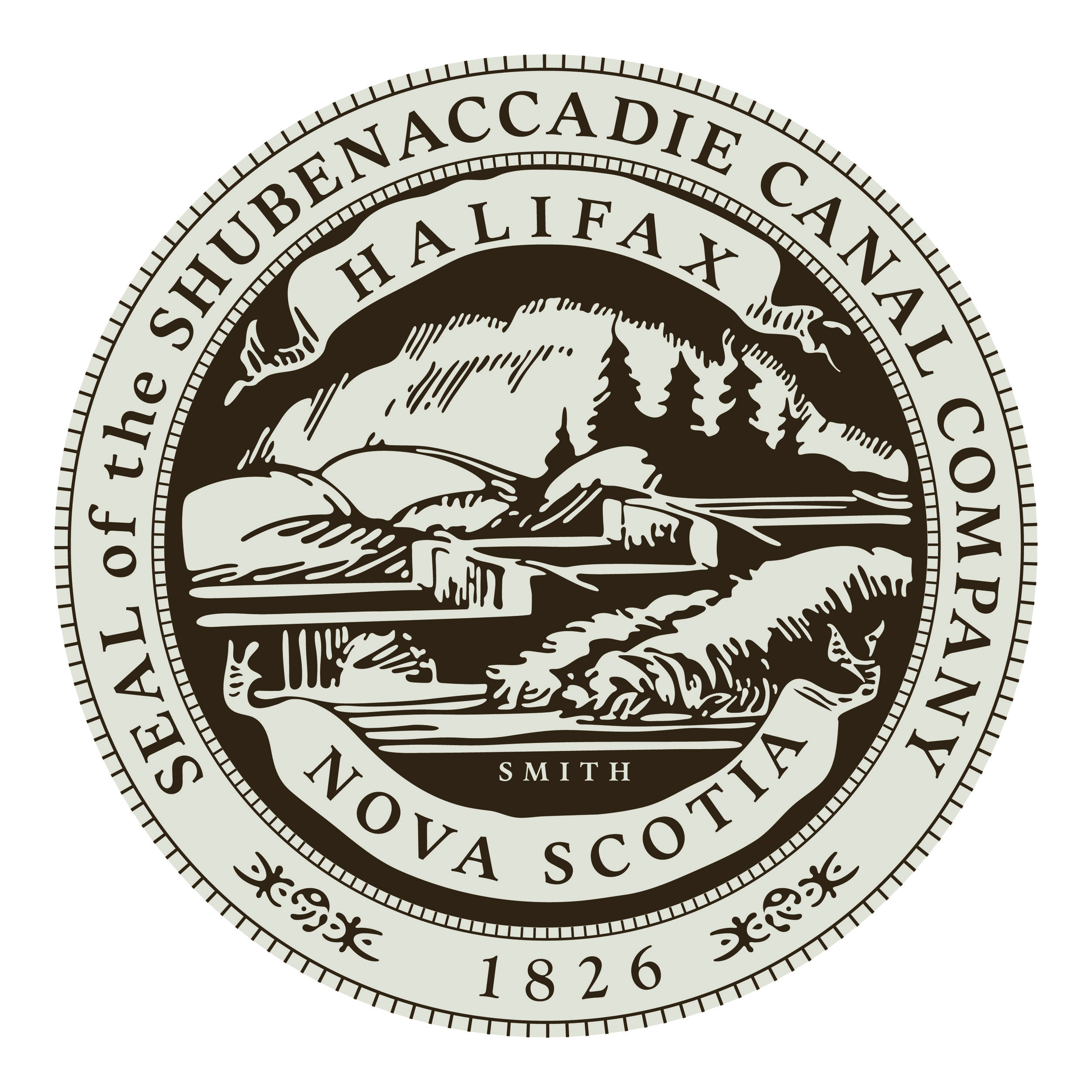 The seal of the Shubenacadie Canal Company.