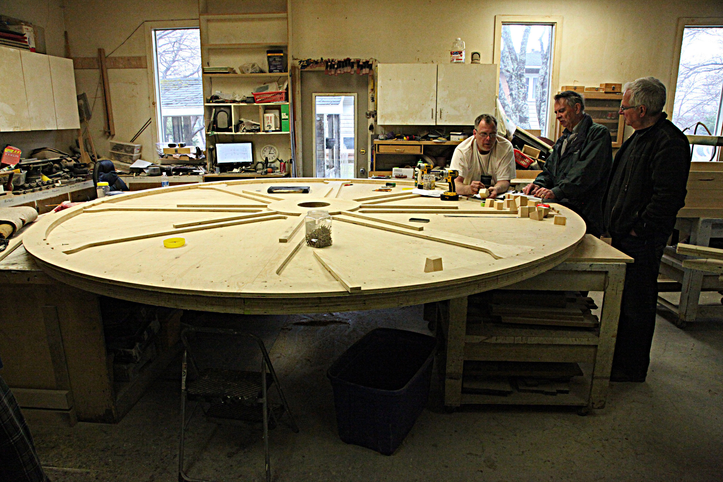 Seen above is one side of the cable drum that is being constructed by Martin Developments.