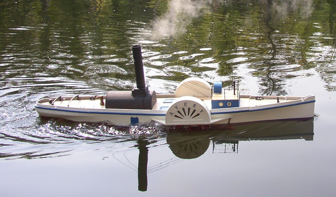 A modern scale model of the  Avery , the first (and only) boat to travel the full length of the canal.