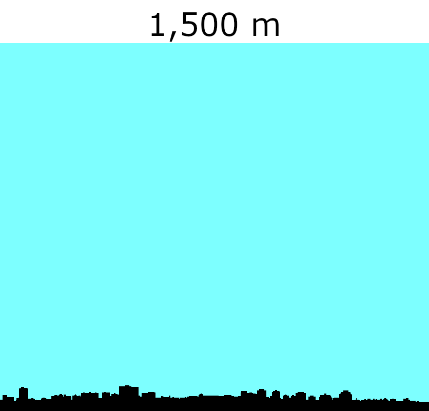 This illustration compares the maximum thickness of the Nova Scotian ice sheets with the modern skyline of downtown Halifax. It was inspired by Randall Munroe's   xkcd   (external link).