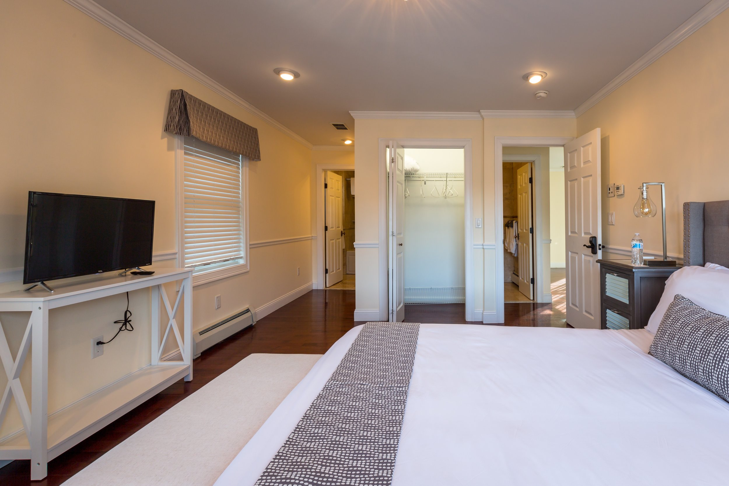 The Etruscan suite is a two bedroom two bathroom suite; perfect for travelers that want to sleep in separate quarters.
