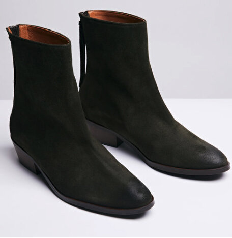 ANONYMOUS Copenhagen Sacha forest suede - £215