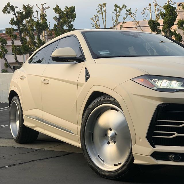 Kanye West's Lamborghini Urus we ceramic coated with Opti-Coat Pro, interior coated with Opti-Guard 👌🏼 wrapped by the legend @justawrapper what do you guys think of these wheels yay or nay? #kanyewest #opticoat #opticoatpro #opticoatproplus