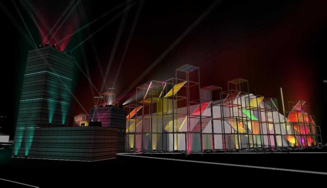 Computer rendering of event.