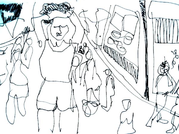 """""""Self-portrait,feeling overwhelmed"""" LV"""