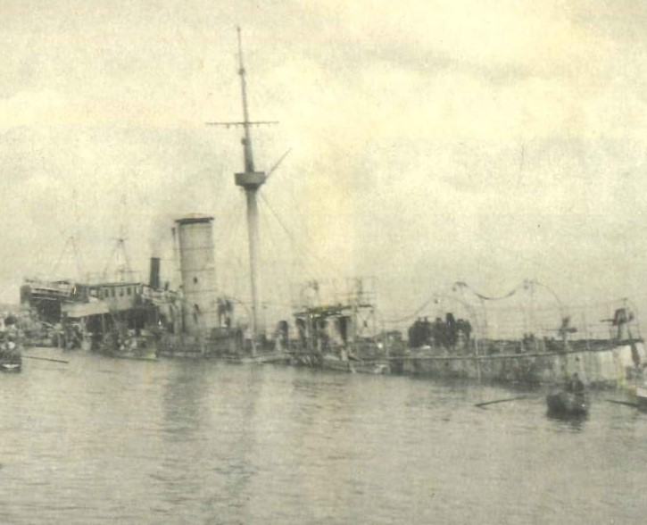 Italian Fleet Destroyed by Ottoman Imperial Navy Beirut 1912.jpg