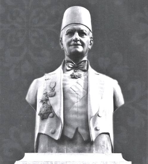 A Bust of Omar Daouk by Maguerditch Mazmanian at Omar Daouk Square, Downtown Beirut.