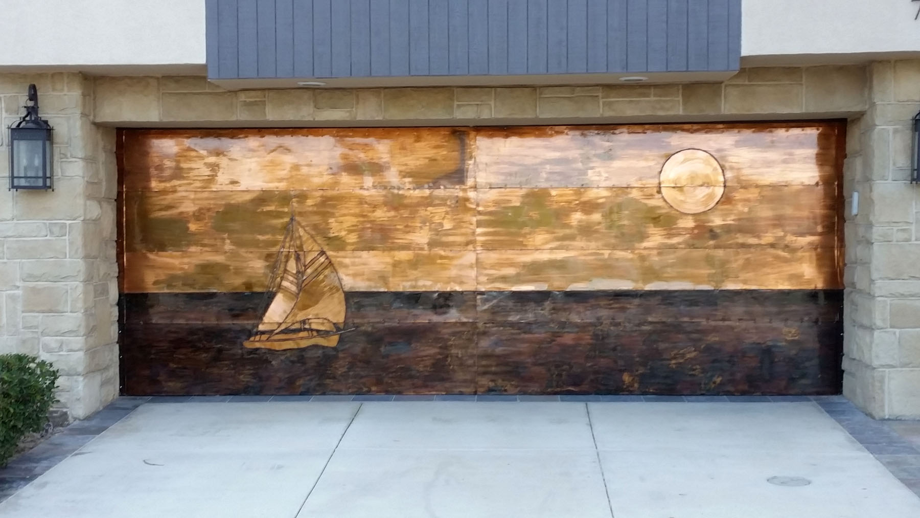 Copper Beach Garage Door