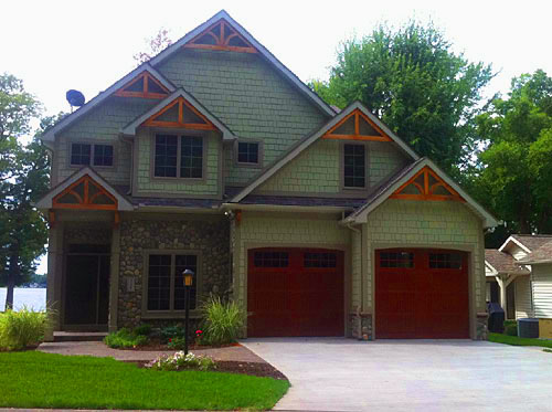 Double Single Wood Garage Doors