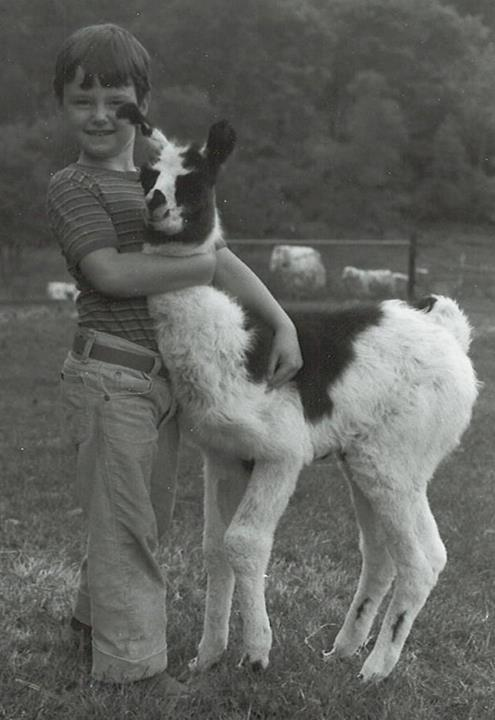 Young Brent and llama.jpg