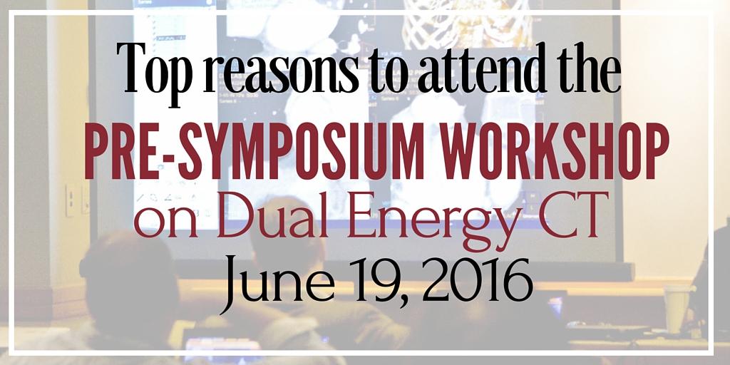 pre-symposium workshop on dual energy ct