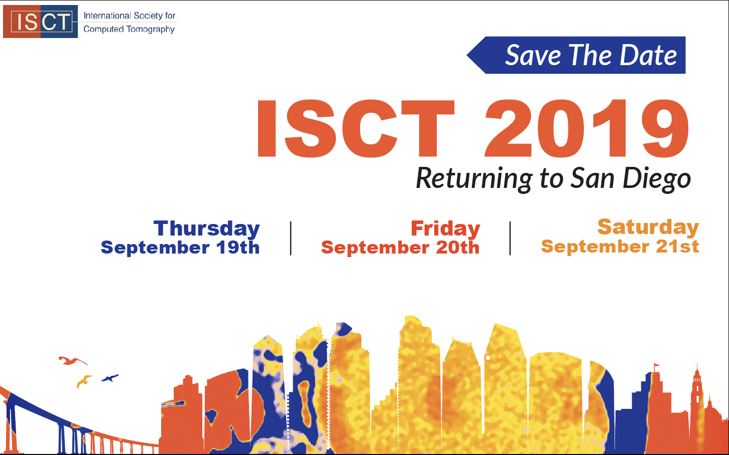 ISCT 2019, save the date, ISCT 2018 conference date