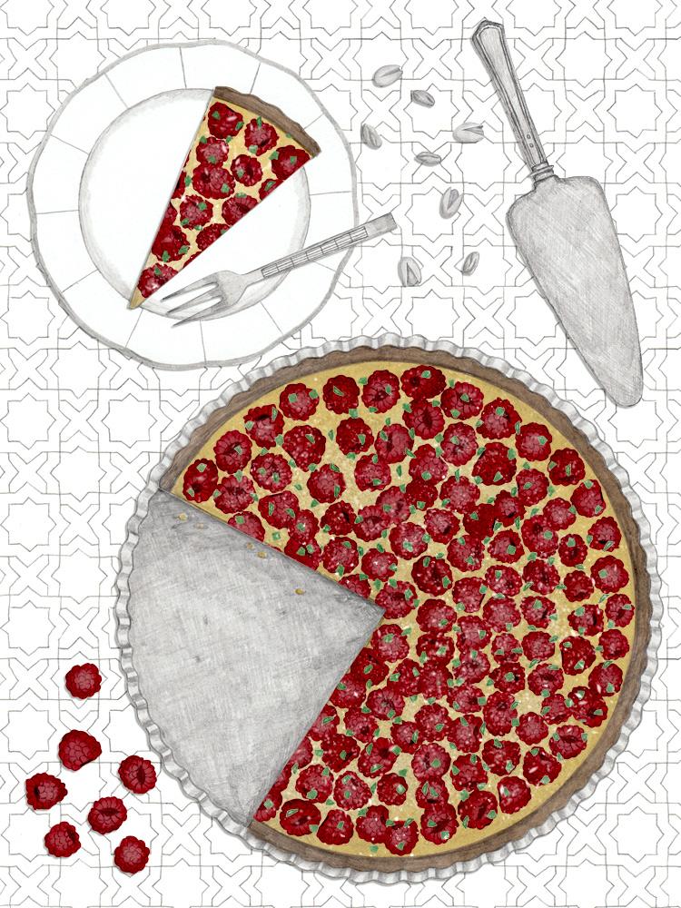 Leckererer Himbeer Pistazien Pie. Kuchen Rezept zum Nachbacken. New Cakes On The Block. Food Blog. Einfache Kuchenrezepte.