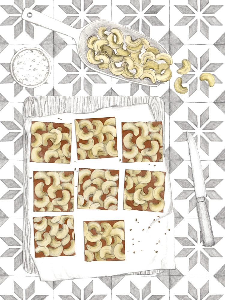 Cashew Karamell Shortbread. New Cakes On The Block. Food Blog. Einfache Kuchenrezepte.