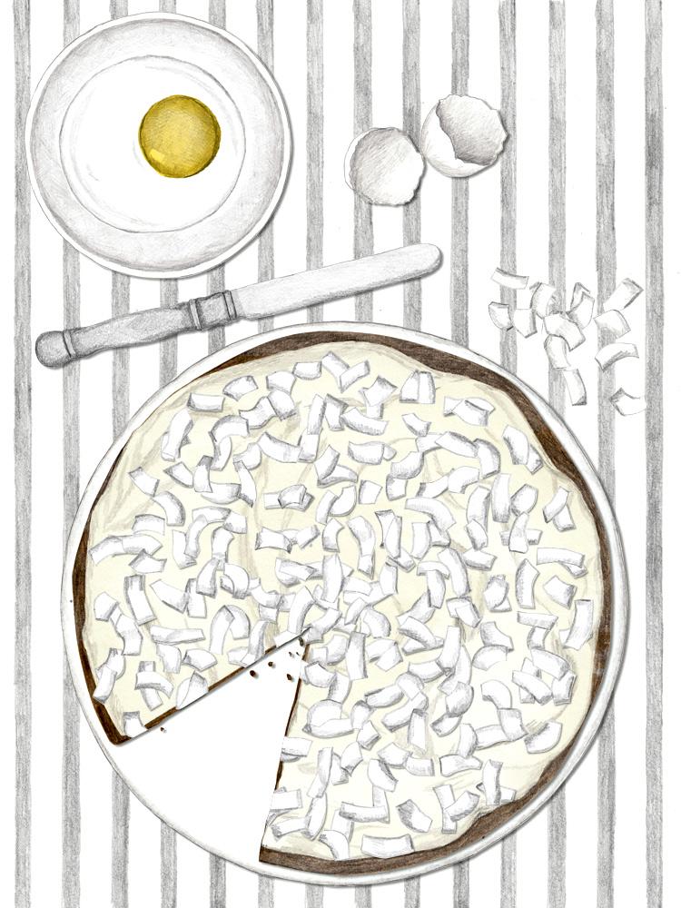 Coconut Pie schmeckt wie ein großes Raffaello. Rezept by New Cakes On The Block.