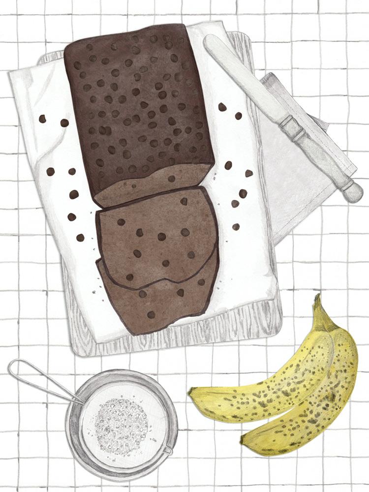 Schokoladen Bananen Becherkuchen, Backen mit Kindern, kinderleichtes Rezept, Becherkuchen für Kinder, zuckerarm