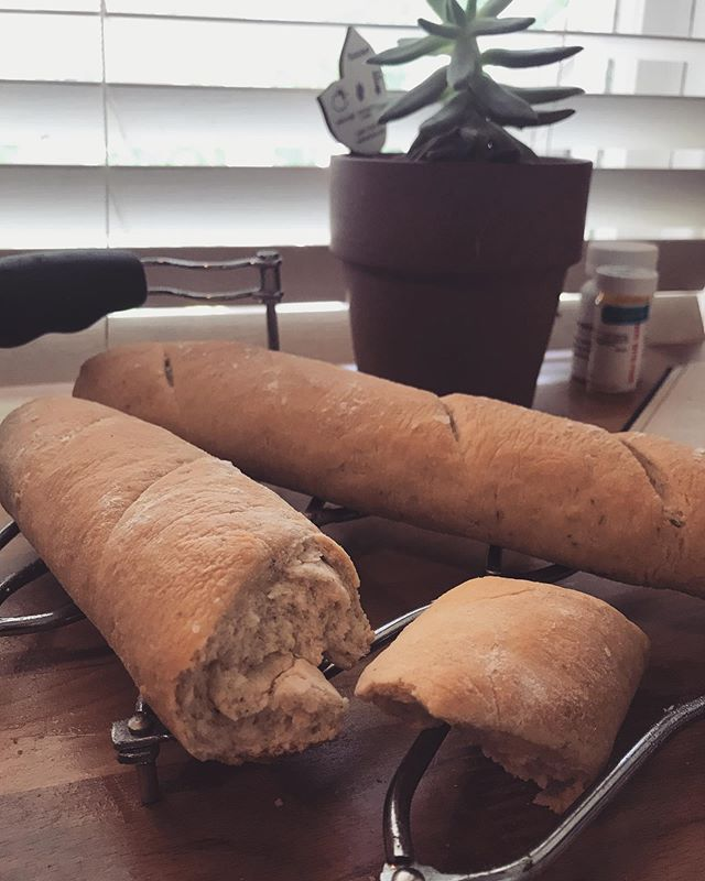 Took my first stab at bread making...and let's just say, my baguette could use your tips