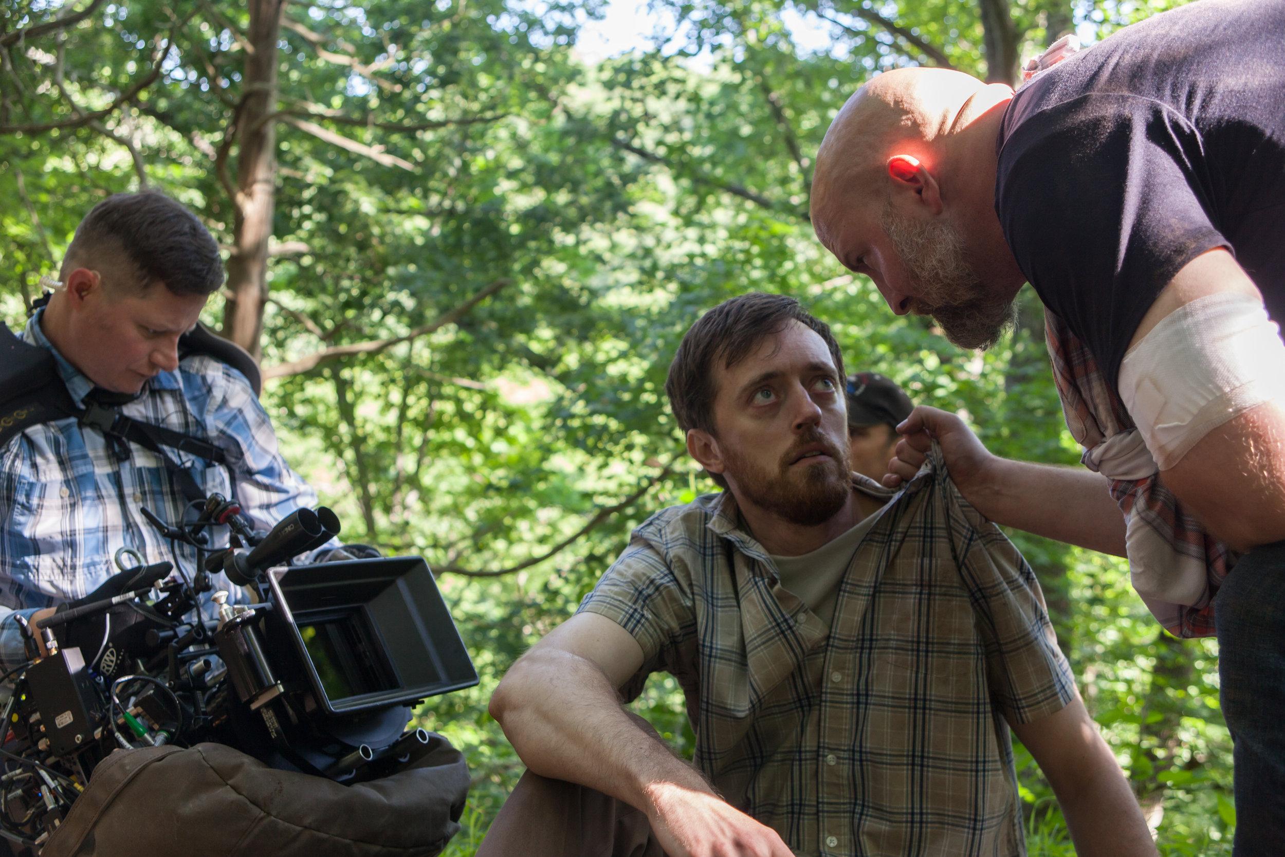 Darryl Miller captures a scene between Michael B. Woods and Sean Patrick Leonard.  Photo credit,  Nathan Fortmeyer