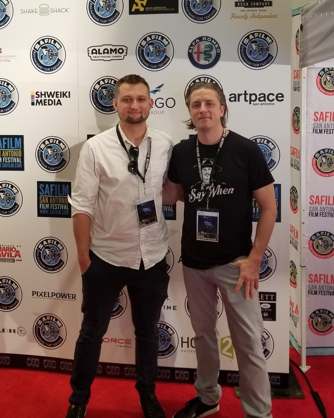Christian Crocker (producer) & Philip S. Plowden (director) at the San Antonio Texas Premiere of  Range Runners.
