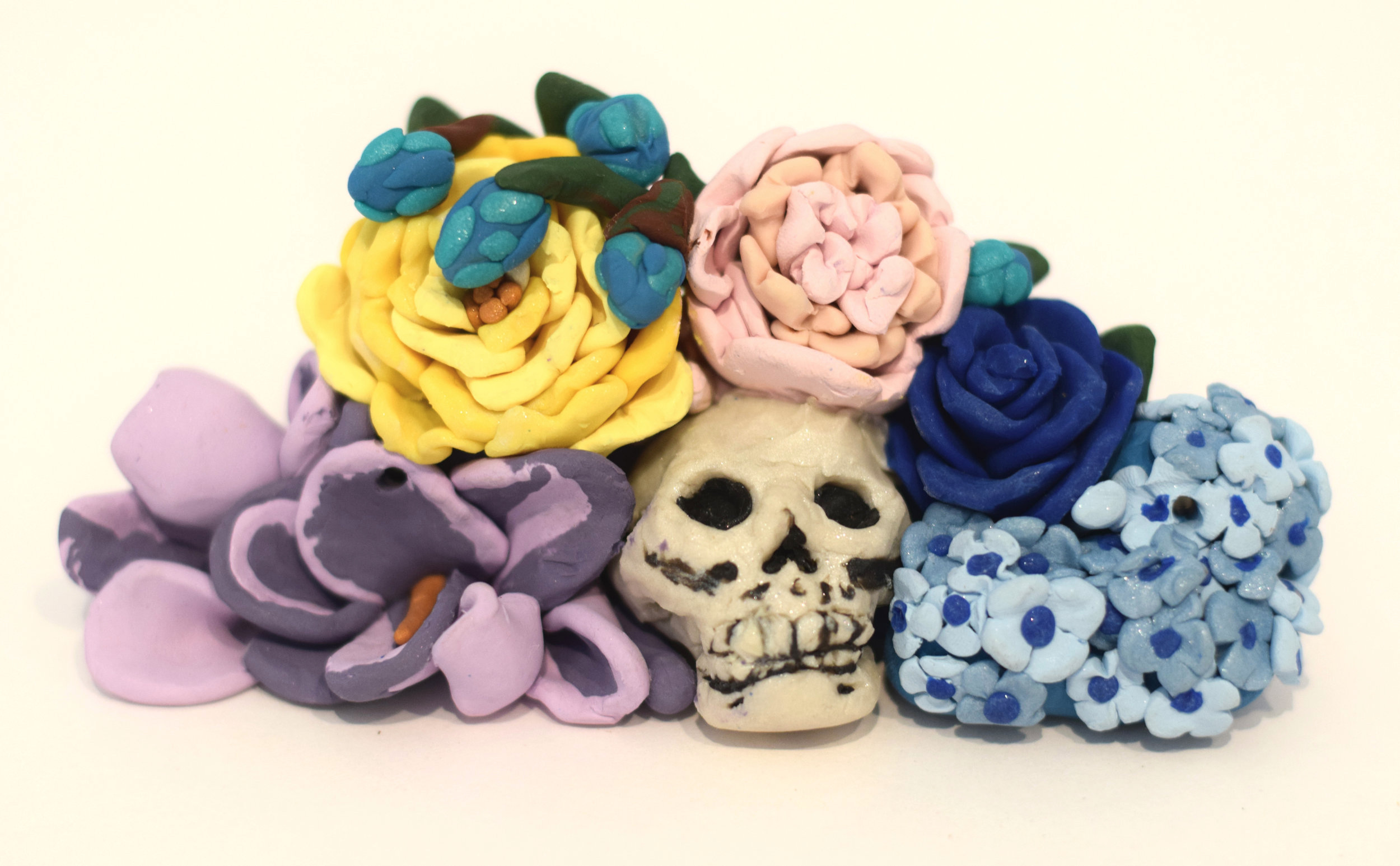 Polymer clay sculpture 2 in. x 5.5 in. x 2.75 in.