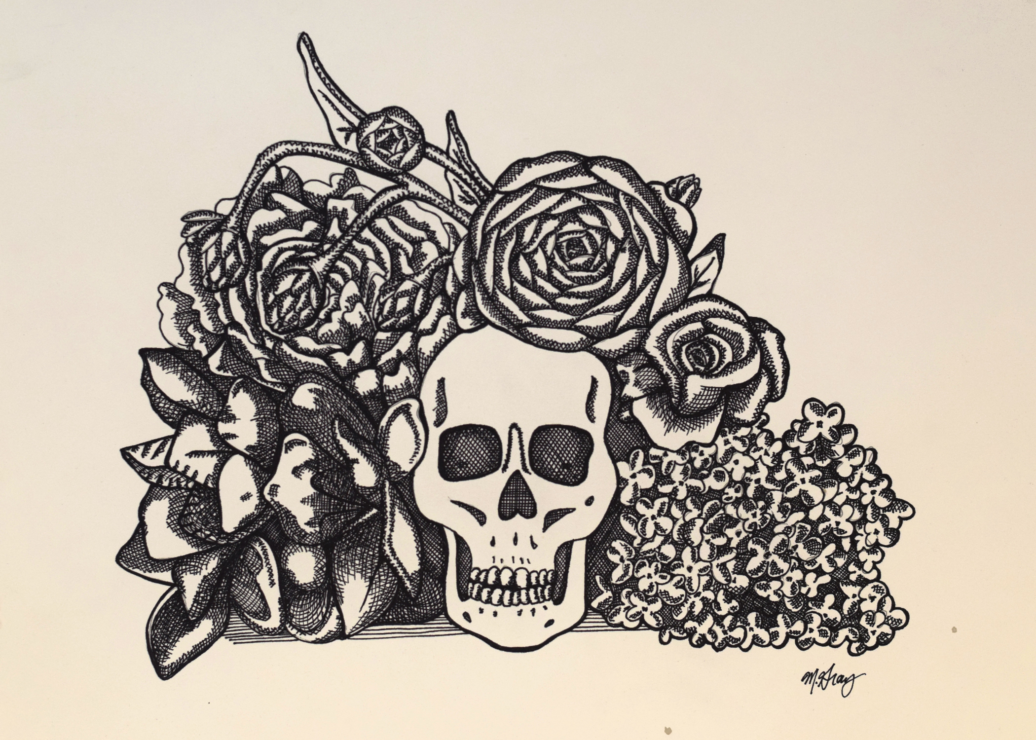 Ink on paper - crosshatching, 11 in. x 15 in.
