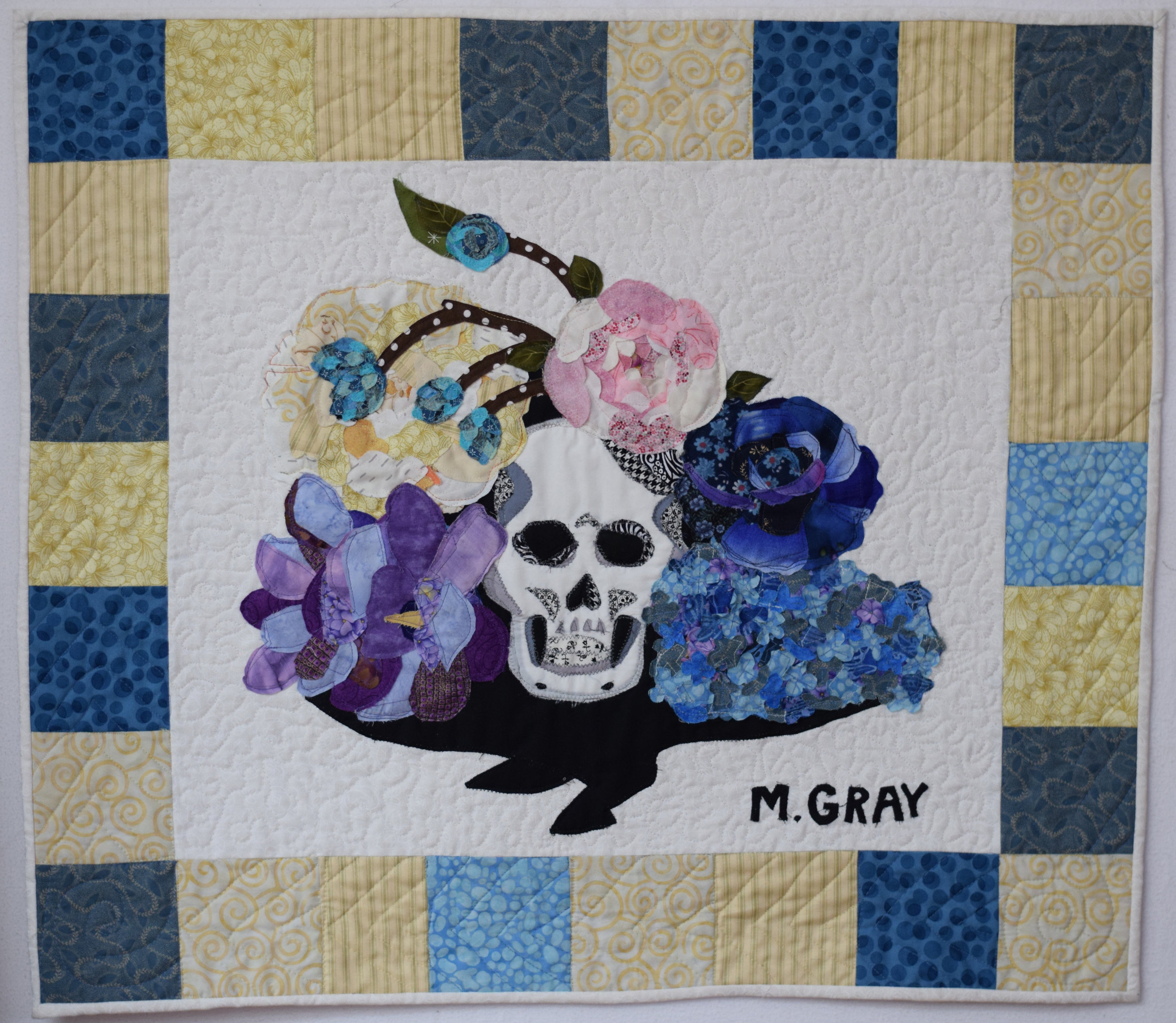 Quilt with cotton fabric,  22 in. x 26 in.