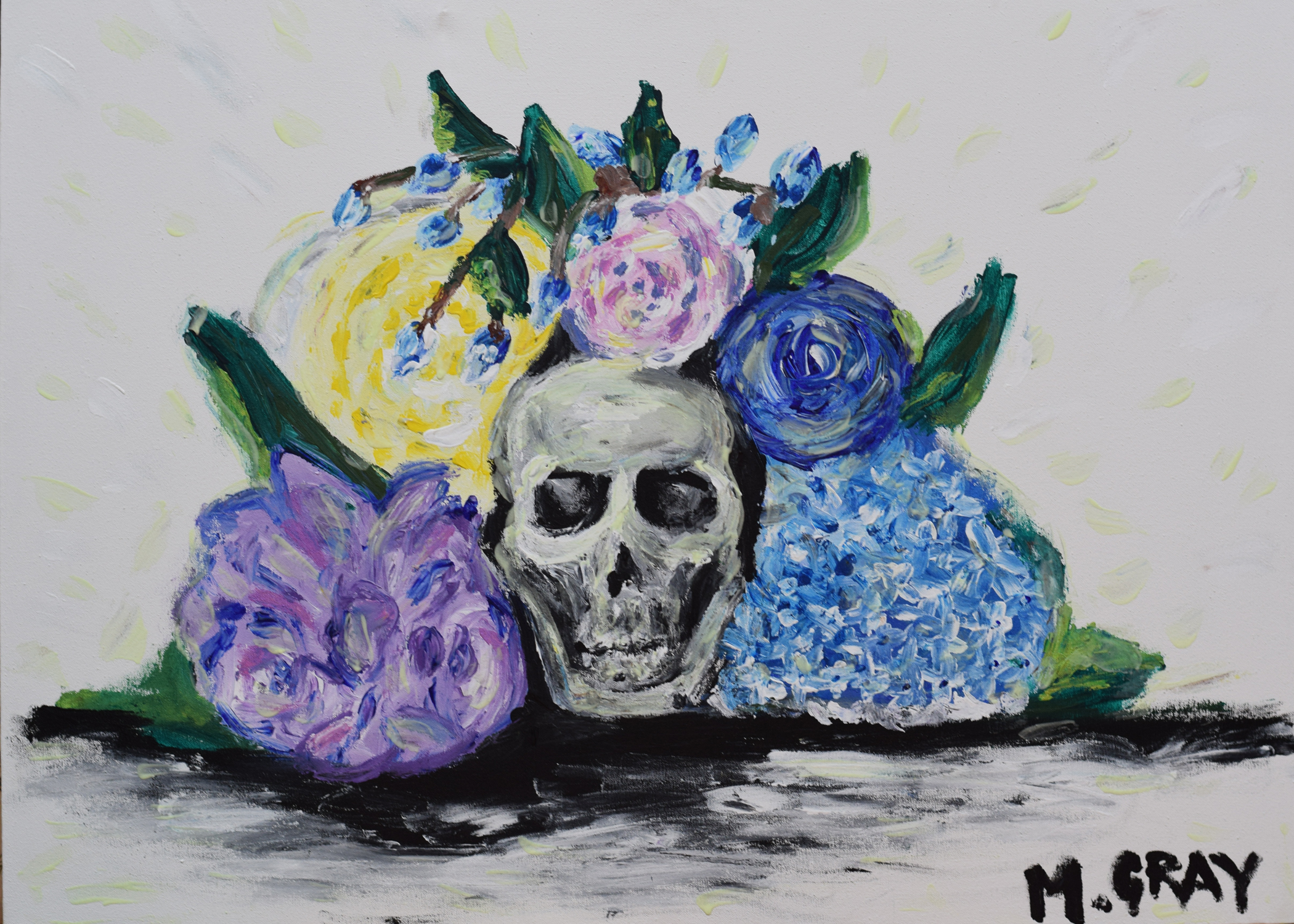 Acrylic painting - finger painted 38.5 in. x 28.5 in.