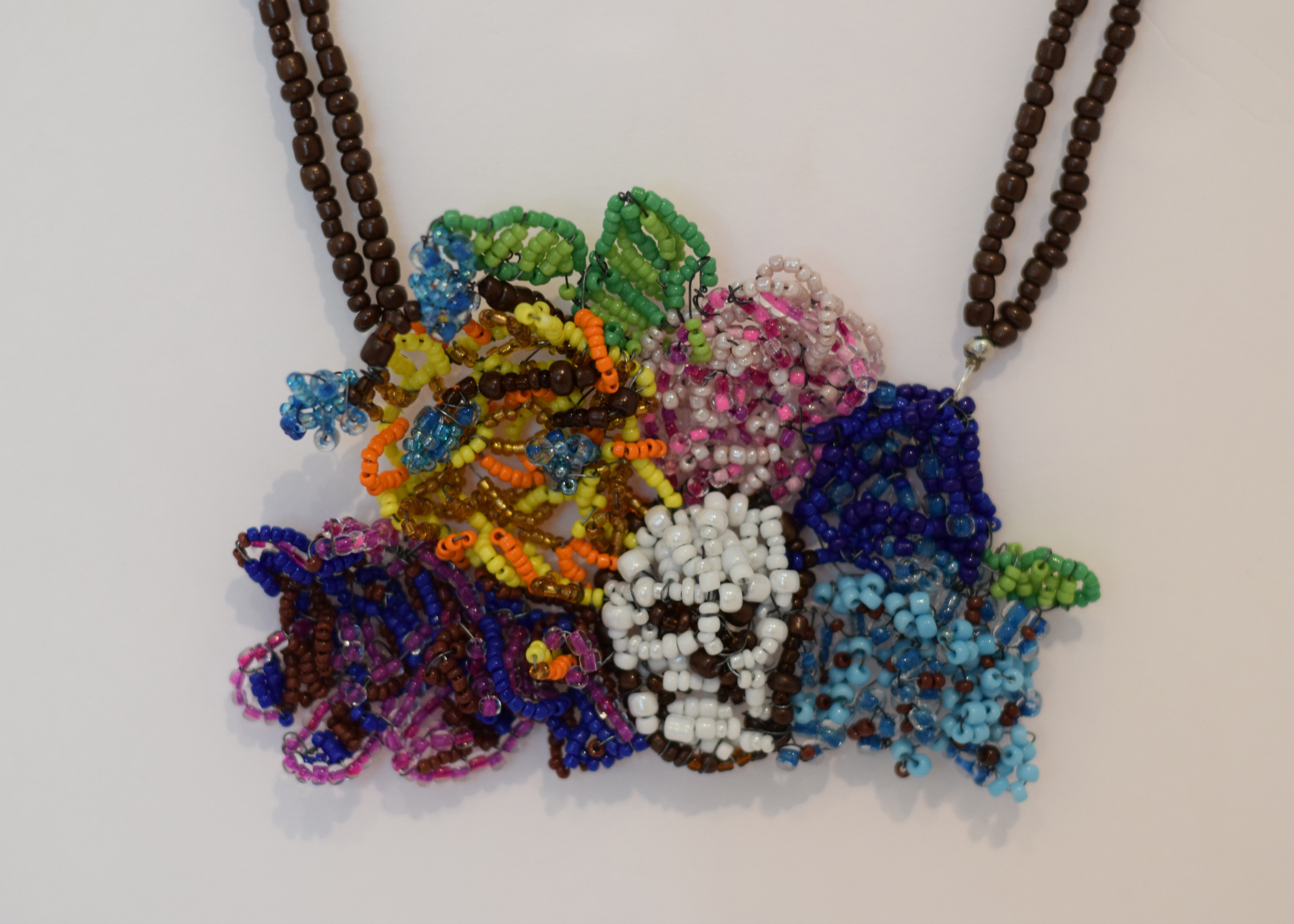 Beaded Necklace  5 in. x 3.5 in.