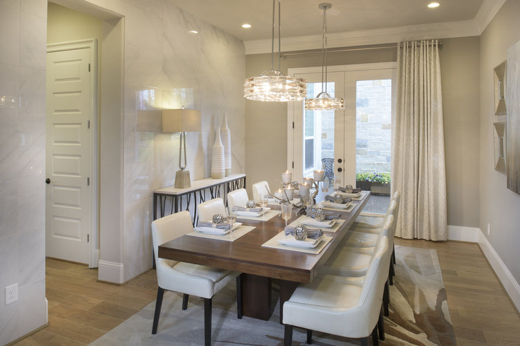 Modern Hanging Dining Chandeliers-Dining Room by  Linfield Design