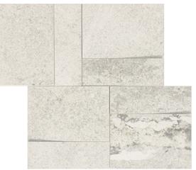 la roche Blanc naturale-anticata  modulo muretto 3d inclinato 30x30 cm