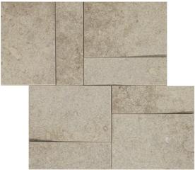 la roche Ecru naturale-anticata  modulo muretto 3d inclinato 30x30 cm