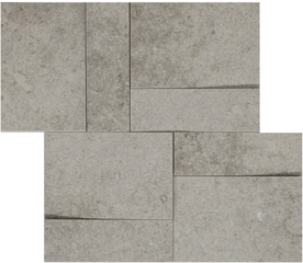 la roche Grey naturale-anticata  modulo muretto 3d inclinato 30x30 cm